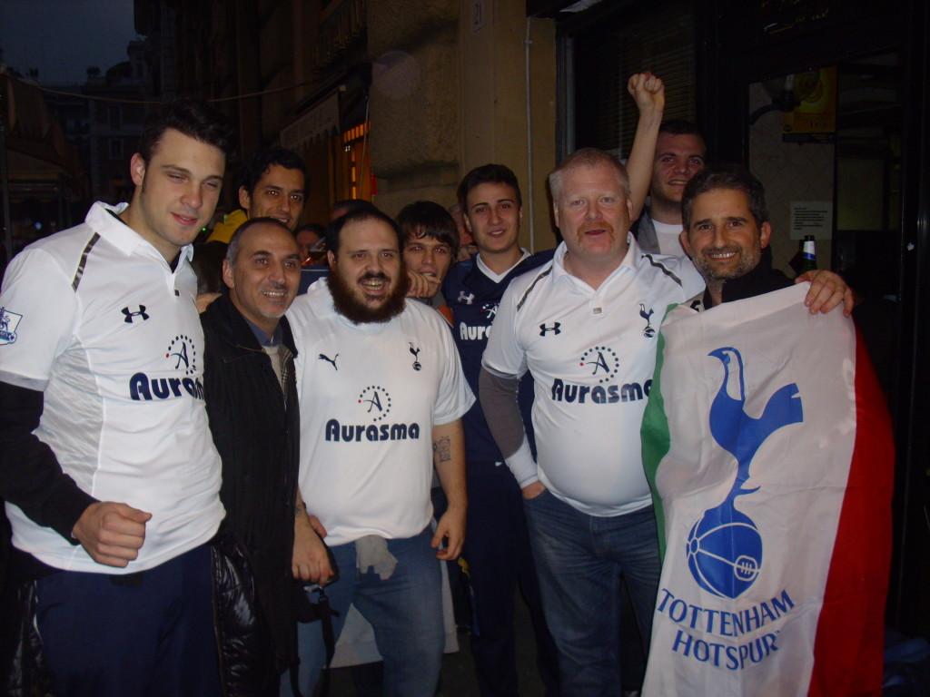 Spurs Italia a Roma. Lazio-Tottenham 22-11-2012